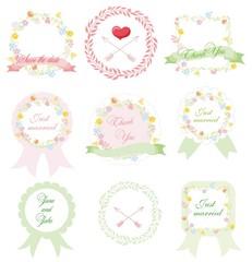Набор свадебный набор графики круглых этикеток
