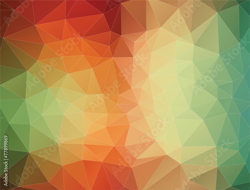 Fotobehang Geometrische Achtergrond 2D Abstract geometric colorful triangle background