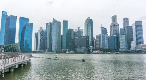 Fotobehang Singapore Downtown Singapore skyline