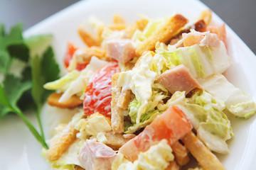 fresh vegetables on the plate - salad