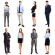 Business people full length portraits