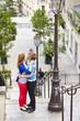 Couple in Paris, on Montmartre