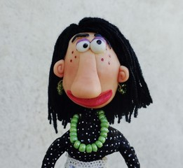 Teen girl puppet