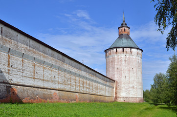 wall and tower in ancient fortress