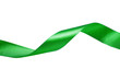 Green ribbon isolated on white background - 77901661