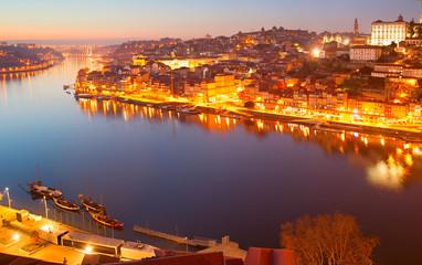 Porto panorama at twilight