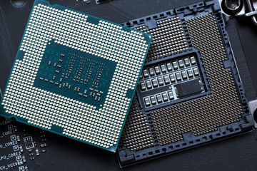 central processor unit on motherboard