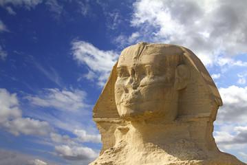 famous ancient egypt sphinx head