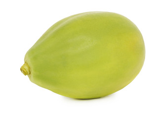 One whole ripe papaya (isolated)