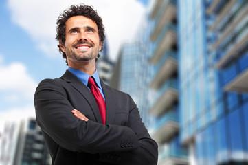Smiling mature businessman portrait