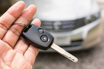 Car key in hand