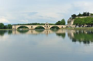 Avignone il Palazzo dei Papi e il ponte