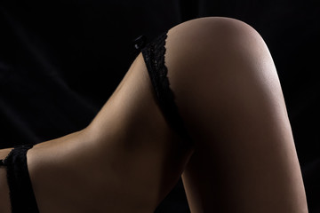 Photo of woman's buttocks