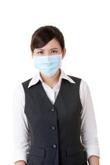 Sick business woman