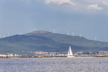 Xiabre Mount and sailboat