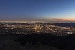 Los Angeles and Glendale Mountaintop View.