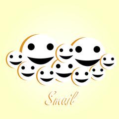 Smile emoticon. Vector illustration