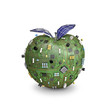 Solar powered data apple