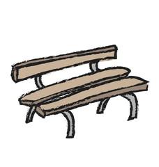 cartoon grunge bench, illustration