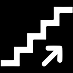 Stairs going up symbol