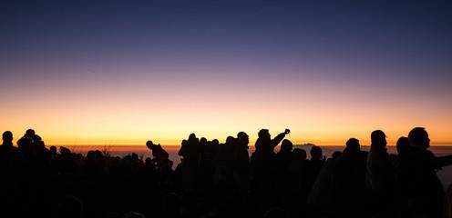 Silhouettes au lever du soleil