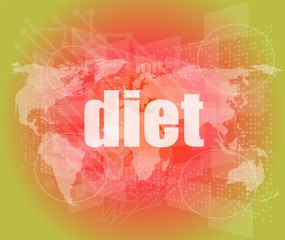 diet word on digital touch screen