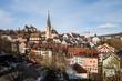 canvas print picture - Baden in canton Aargau, Switzerland