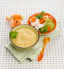baby zucchini puree of carrots