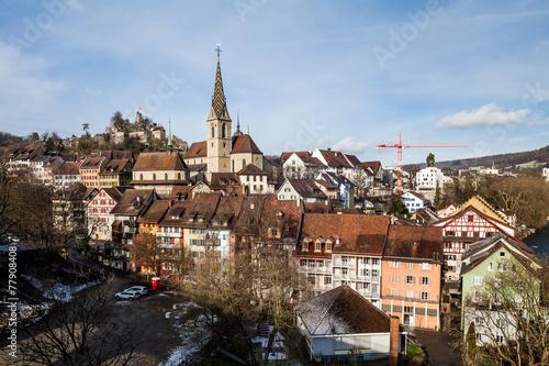 canvas print picture Baden in canton Aargau, Switzerland