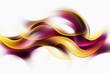 Leinwandbild Motiv Beautiful Yellow Waves On a White Background