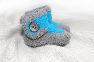 crochet baby boy booties