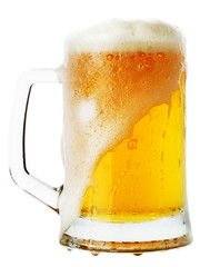 jug of beer isolated on the white background