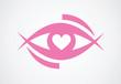 eye with heart / vector design