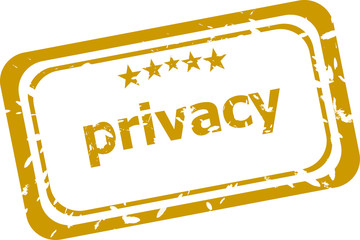 privacy stamp isolated on white background