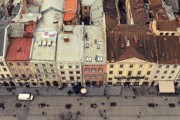 LVOV, UKRAINE - OCT. 20:  Rynok Square. Historical center of Lvo