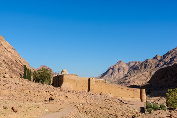 Monastery of St. Catherine, mountains near of Moses mountain