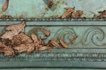 Bronze ornamental pattern.