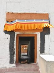 buddhist monastery entrance in Ladakh