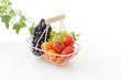 新鮮なブドウとプチトマト