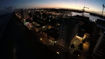 Hollywood Beach at night 2.7k 60p