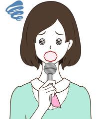 女性レポーター 混乱