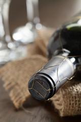 Verschlossene Weinflasche