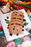 goose pate with cranberries for easter
