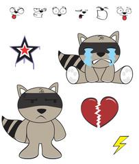 raccoon baby cartoon funny cartoon set7
