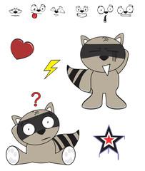 raccoon baby cartoon funny cartoon set6