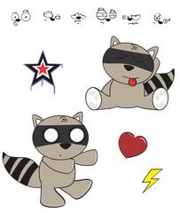 raccoon baby cartoon funny cartoon set5