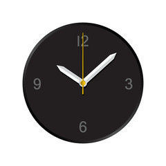 Simple wall analog clock shows 10:08