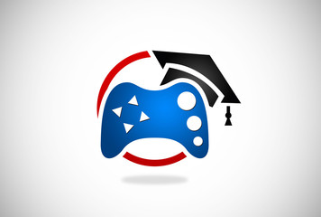student education game vector logo