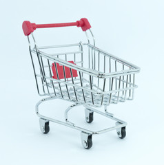 Toy trolley with white background