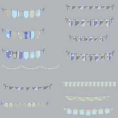 color bunting set blue